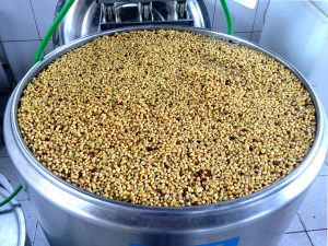 Soybeans ready to be processed by MFPI.